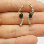 Brinco Ear Hook Dourado Preto