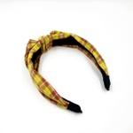 Tiara Quadriculada Amarelo