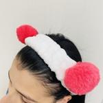 Faixa Atoalhada Para Maquiagem Pelúcia Panda Rosa