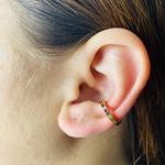 Piercing Fake (Uma Unidade) Zircônia Dourado Colorido