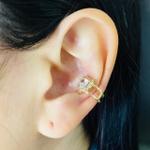 Piercing Fake (Uma Unidade) Zircônia Coração Dourado