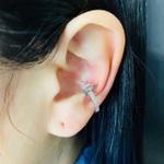 Piercing Fake (Uma Unidade) Zircônia Gota Prata