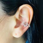Piercing Fake (Duas Unidades) Zircônia Coração Prata