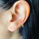 Piercing Fake (Duas Unidades) Estrela Dourado