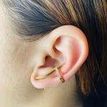Brinco Ear Cuff Zircônia Dourado