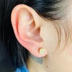 Kit De Brinco Ear Cuff e Mini Brinco Dourado