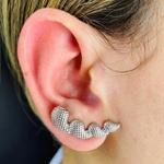 Brinco Ear Cuff Prata