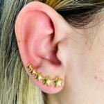 Brinco Ear Cuff Folheado a Ouro 18K Estrela