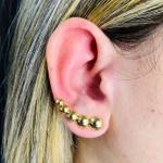 Brinco Ear Cuff Folheado a Ouro 18K Círculo