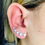 Brinco Ear Cuff Folheado a Prata 925 Estrela