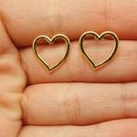 Brinco Folheada a Ouro Coração
