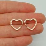 Mini Argola Zircônia Coração Dourado