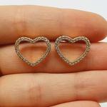 Brinco Zircônia Coração Dourado