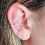 Piercing Fake (Uma Unidade) Zircônia Coração Prata