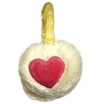 Protetor De Orelha Infantil Coração Branco