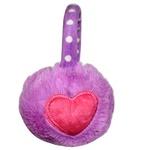 Protetor De Orelha Infantil Coração Violeta
