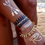 Tatuagem Metálica Flash Tattoo Asa Egipcia Neon