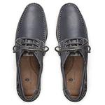 Sapato Casual em Couro Anil - Barra