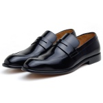 SAPATO SOCIAL MASCULINO LOAFER CNS HOUSTON PRETO