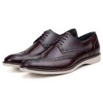 SAPATO CASUAL MASCULINO DERBY CNS BROGUE LOTUS MOURO