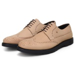 SAPATO CASUAL MASCULINO DERBY CNS BROGUE HOOK NATURAL
