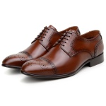 SAPATO SOCIAL MASCULINO DERBY CNS BROGUE RUFUS WHISKY