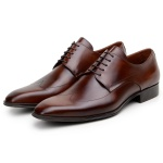 SAPATO SOCIAL MASCULINO DERBY CNS MOSK 2 WHISKY