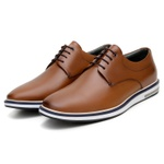 SAPATO CASUAL MASCULINO DERBY CNS OPUS WHISKY