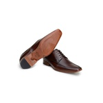Sapato Social Masculino Derby CNS Disc 49 Tostado