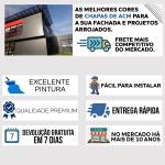 CHAPA DE ACM COBERCHAPAS AZUL CLARO 3MM 122 X 500