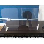 Barreira De Proteção Para Balcão De Atendimento e Checkout Medida 80x60 Cm