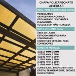 Chapa De Policarbonato Alveolar 1,05x3,00 4 Milímetros Bronze