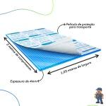 Chapa De Policarbonato Alveolar 1,05x3,00 4 Milímetros Azul