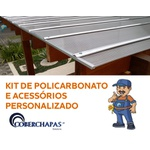Kit Personalizado De Acessórios Para Instalação De Policarbonato Alveolar Para Cobertura