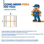 Persiana Rolo Double Vision Mescla 140 (l) X 150 (a) Pronta