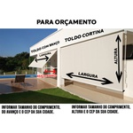 TOLDO CORTINA PRONTO COMPLETO NA MEDIDA DE 3.73 x 2,50 (Largura x Altura) COM VISOR