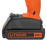 Parafusadeira Furadeira 20V com Bateria Lítio e Carregador BLACK DECKER BCD703C1BR