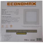 Luminária Plafon Quadrada De LED 24W - Economax