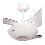 Ventilador De Teto Clean Branco 130W 3 Pás Transparentes - Tron