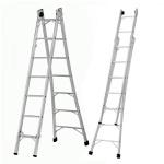 Escada Extensiva de Alumínio - 8 e 10 Degraus