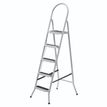 Escada De Aço Branca - 4, 5, 6 e 7 Degrau