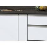 Gabinete Em Aço Para Pia 1,5m Gaia Flat Branco - Cozimax