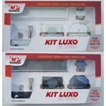 Kit De Banheiro Luxo Reto 5 Acessórios De Banheiro - Comercial Pinhati