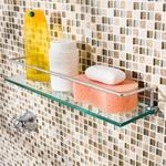Porta Shampoo 40cm De Vidro Incolor - Comercial Pinhati