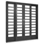 Porta De Correr Central 2,0m Tipo Vidro Horizontal 4 Folhas - Ramassol
