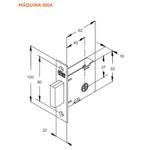 Fechadura Auxiliar (Tetra) 1004 Em Inox - Stam