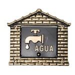 Visor Para Relógio De Água Ouro Nº15 18cmX19cm - Fortral
