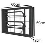 Vitro Basculante 60cm X 60cm Com grade quadriculada Romex - Ramassol