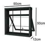 Vitro Basculante 50cm X 50cm Maxim-ar Com grade quadriculada Fortsol - Ramassol