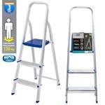 Escada Aluminio 3 Degraus REF 5101 - MOR